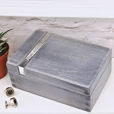 personalised wooden gentleman s watch box by warner s end grey shuttering wood men s watch box