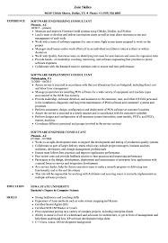 Consultant Software Resume Samples Velvet Jobs