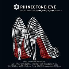 Cricut Design Space Rhinestone Template High Heels Rhinestone Template Digital Download Ai Svg