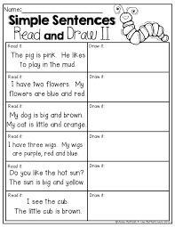 Read and DRAW! Simple sentences for beginning readers! | School ...