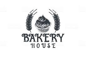 Wheat Cupcake Vintage Bakery Shop Logo Designs Inspiration Isolated