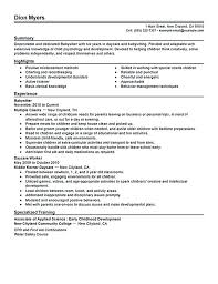 babysitter resume skills best examples images on sample is going to help  anyone who interested in
