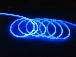 5m lot 12mm solid core side glow fiber optic led light cable diy light decoration