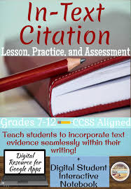 In Text Citation Lesson Practice And Assessment Mla 8th Edition