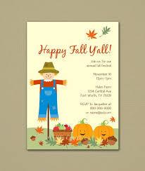 Happy Fall Yall Fall Festival Party Invitation By Nhacreatives