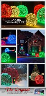 How To Make Outdoor Christmas Tree Out Of Lights How To Make Christmas Light Balls
