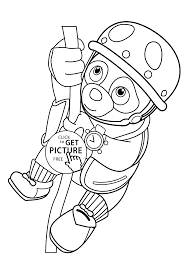 Small Picture agent OSO on rope coloring pages for kids printable free