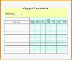 daily work schedule templates employee daily work schedule template download free blank