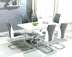 white round dining table extending cream gloss furniture large arctic black glass and 6 chairs full