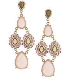 talullah tu tallulah tu shimmer bead crystal chandelier earrings pink