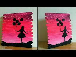 popsicle stick craft wall decor handmade birthday gift idea by punekar sneha