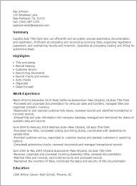 Resume Title Examples Awesome Resume Title Examples Beautiful 60 Auto Title Clerk Resume Templates