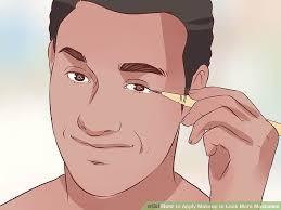 image led apply makeup to look more masculine step 8