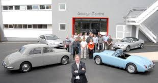 the mg design centre in birmingham uk officially opened in june this year tony williams kenny center and the design team pose for a photo in the