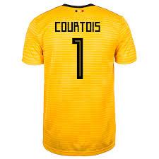 Courtois Away World Jersey Men's Belgium Cup 1 Russia 2018