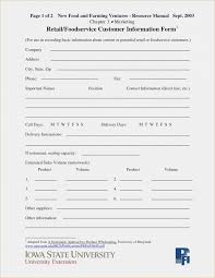 Customer Information Template Business Plan Nail Salon Pdfntactn Form Template Awesome