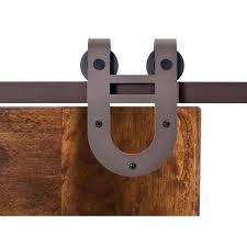 antique bronze rustic horseshoe barn style sliding door track