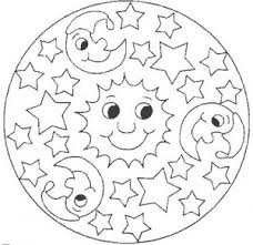 Small Picture Space mandala coloring page for kids Crafts and Worksheets for