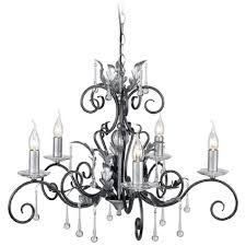 amarilli 5 light traditional chandelier black silver