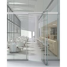 swing toughened glass frameless office glass door