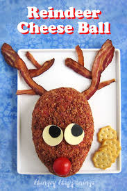 A trio of lettuces create the evergreen tree, and items from the deli counter and. Reindeer Cheese Ball Fun Christmas Appetizer Hungry Happenings