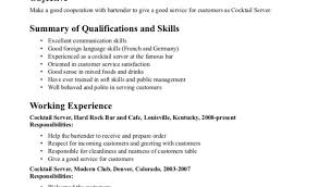 Bartender Resume Sample No Experience Free Duties Photo