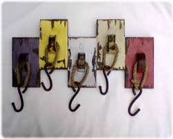 Rustic coat rack, wall hanger with 6 railroad spike hooks, 30 x 8 barnwood  towel rack