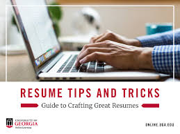Important Resume Tips Resume Tips And Tricks Guide To Crafting Create Resumes Uga