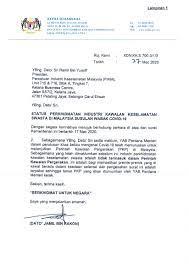 Berdasarkan surat himbauan yang diterbitkan oleh kantor pajak. Surat Edaran Pikm Ke 12 2020 Surat Kementerian Dalam Negeri Berkaitan Pengecualian Perintah Kawalan Pergerakan Pkp Bagi Perkhidmatan Industri Keselamatan Swasta Di Malaysia Pikm My