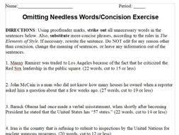 Writing And Journalism Worksheets Concision Active Voice Lead