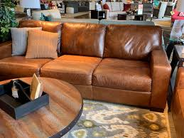 52 chestnut leather sofa photo