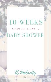 10 Week Guide To Planning A Baby Shower E Book Lc Maternity Store