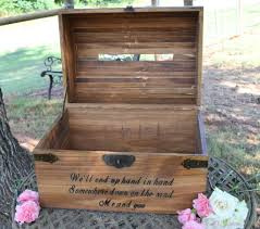 wedding card box, wedding card holder, rustic wedding country Wedding Card Holder Chest extra large engraved chest locked with card slit treasure chest wedding card holder