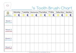 Teeth Brushing Chart Teeth Cleaning Chart For Kids The Chart We Have Been Using