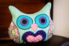 Owl Pillow Pattern Lola Purply Owl Pillow On Luulla