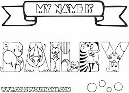 Small Picture Color Your Name Coloring Coloring Pages