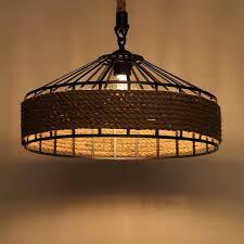 industrial style lighting fixtures. Cottage Style Lighting Fixtures Country Rope Drum Shape Industrial Light Svlt 1 Futuristic T 148737 Large1057 L