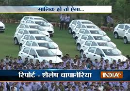 diwali gifts diamond trader gifts 491 cars to employees india tv you