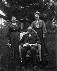 Outdoor Portrait of August, Mary, and Sarah Krueger | Photograph |  Wisconsin Historical Society