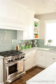 kitchen backsplash glass tile green. White On White, Dal Tile Whisper Green Glass Tile, Polished Nickel  Hardware. MeringueDesigns Kitchen Backsplash Tile Green G
