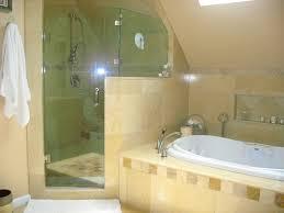 Shower & Jacuzzi tub mediterranean-bathroom