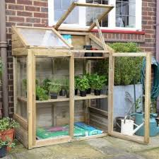 mini greenhouse with 2 internal shelves