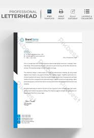 Black And White Letterhead Blue Black And White Letterhead Flyer Template Psd Free