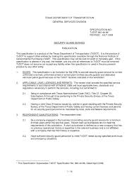 Security Guard Resume No Experience Free Resume Templates