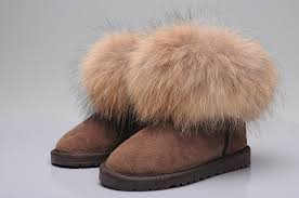 ugg fox fur mini boots 5854 khaki,uggs slippers black,ugg boots,Cheap Sale
