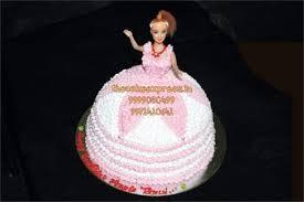 Pink Barbie Doll Cake For Girls Online Cake Delivery Noidacake Shop