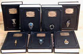 these leatherbound harry potter books come with horcrux bookmarks nerdist