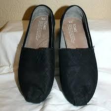 black leather toms slip las