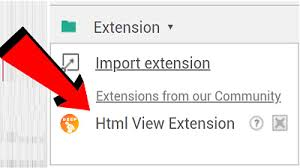HTML View Extension | HTML View (index.html) File or Direct Code ...