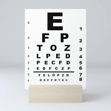 Printable Eye Chart Eye Test Chart Mini Art Print By Homestead
